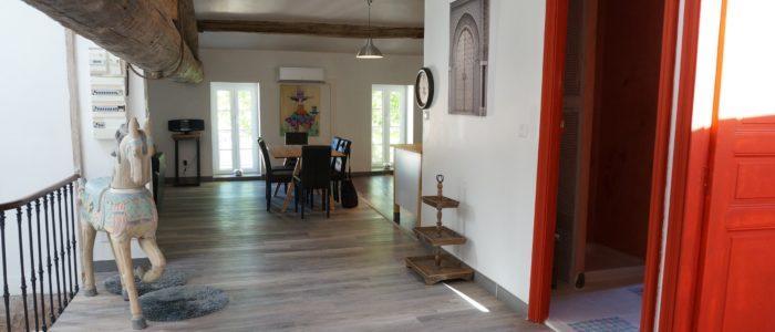 photo de l'entrée du loft à louer pour cure et vacance à Lamalou les Bains