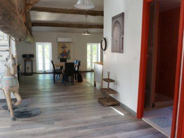 photo de l'entré du loft à louer pour cure et vacance à Lamalou les Bains