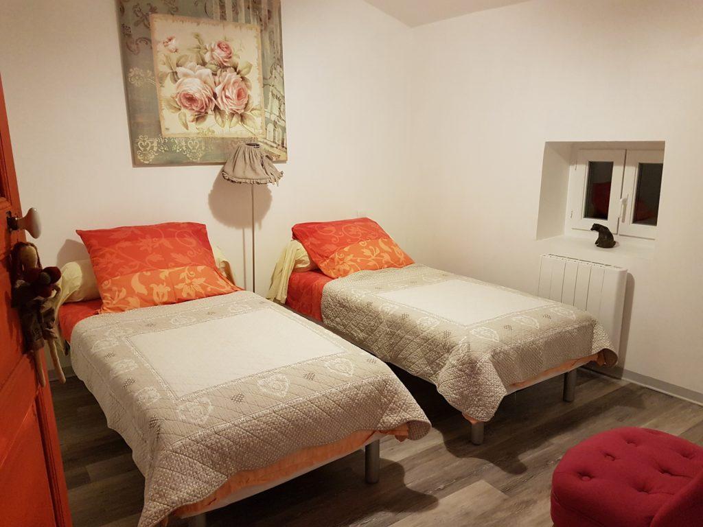 deuxième photo d'une des chambres du loft à louer pour cure et vacance à Lamalou les Bains