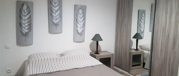 troisième photo d'une des chambres du loft à louer pour cure et vacance à Lamalou les Bains