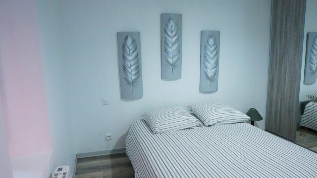 photo d'une des chambres du loft à louer pour cure et vacance à Lamalou les Bains